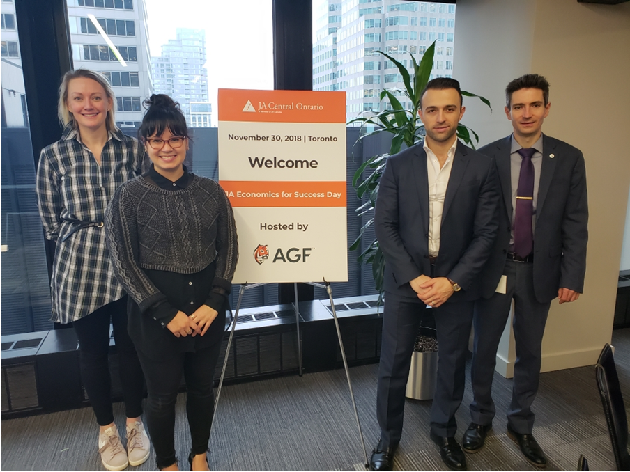 AGF staff at JA Central Ontario event
