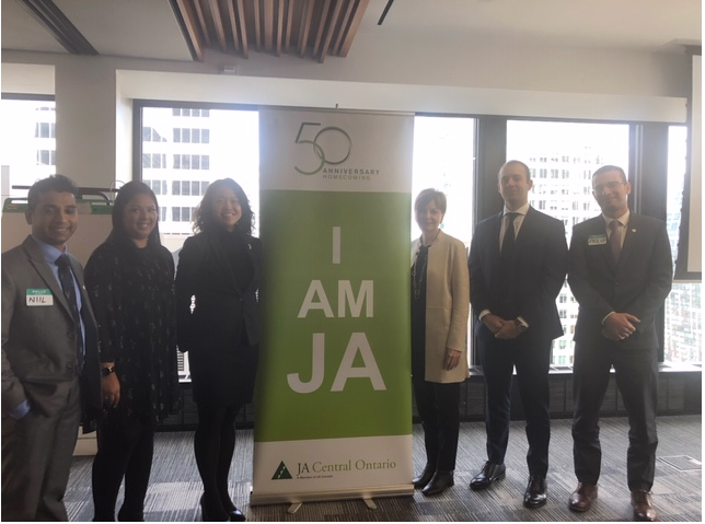 AGF staff with I am JA banner